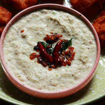Kobbari Putnala Pappu Pachadi   Hotel Style Coconut Chutney