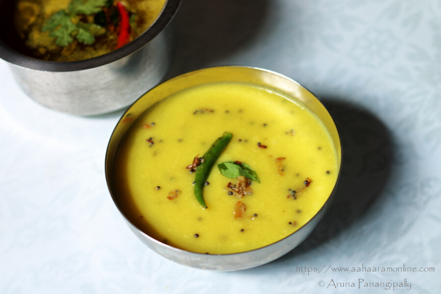 Pesara Pappu Kattu | Andhra Moong Dal with Ginger and Green Chilly