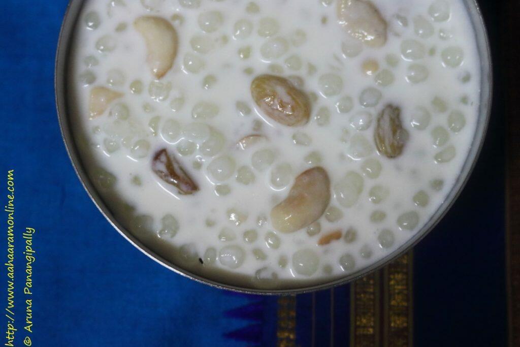 Saggubiyyam Payasam   Javvarisi Payasam   Sabudana Kheer