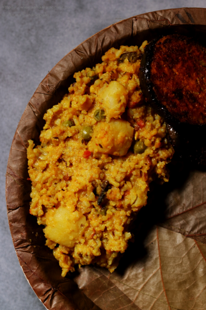 Bengali Bhoger Khichuri | Bengali Moong Dal Khichdi for Durga Puja