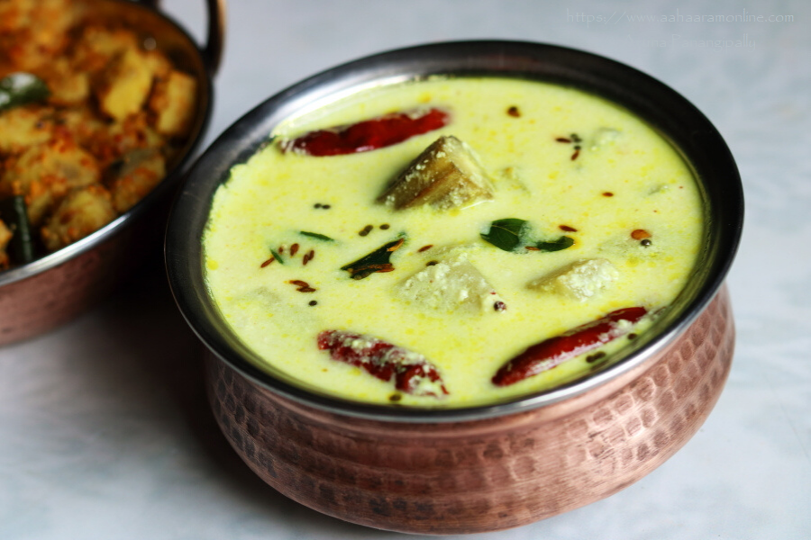 Andhra Majjiga Pulusu with Coconut   Andhra Buttermilk Stew with Coconut