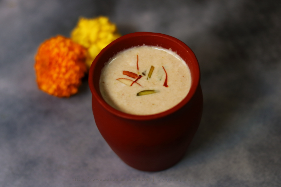 Thandai: Milk Simmered with Spices and a Dry-Fruit Paste