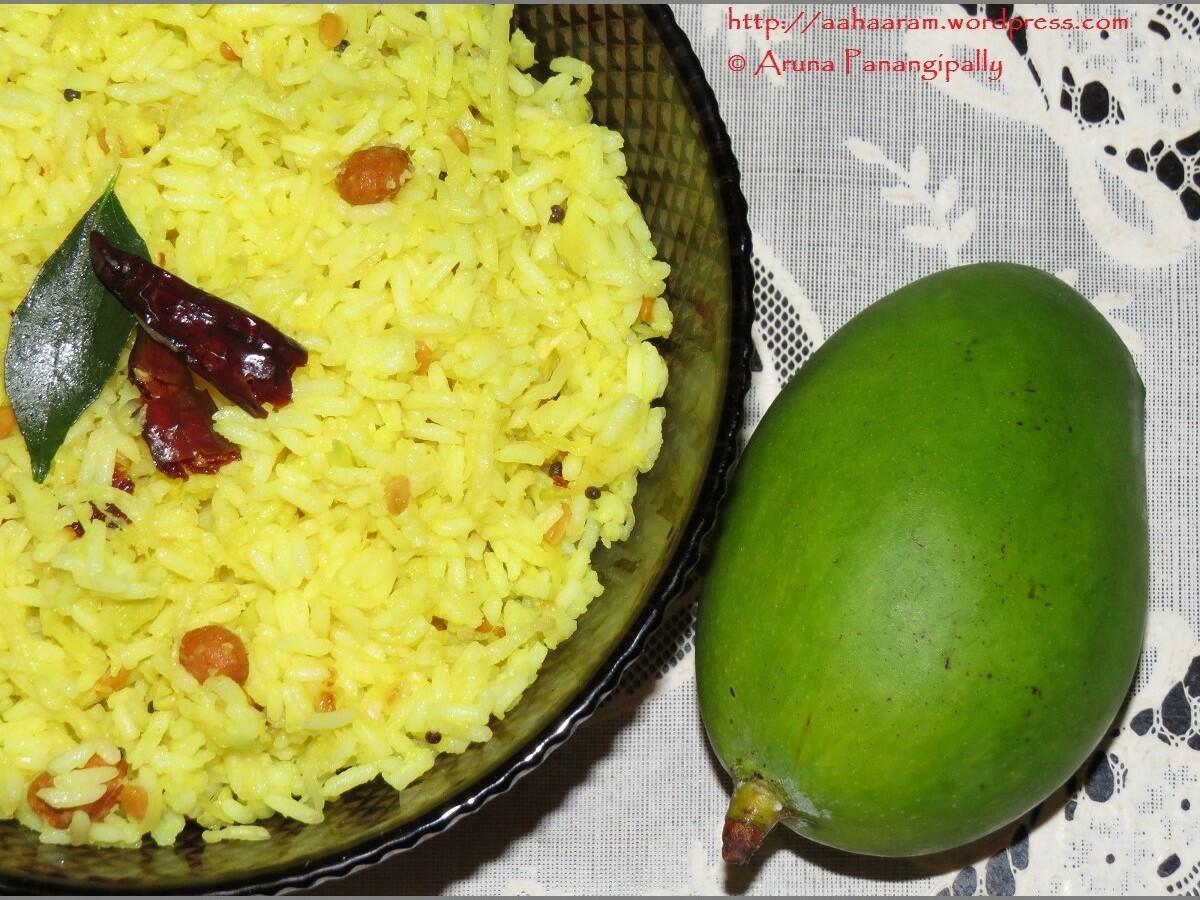 Mamidikaya Pulihora | Mavinakayi Chitranna | Mangai Sadam | Andhra Style Raw Mango Rice
