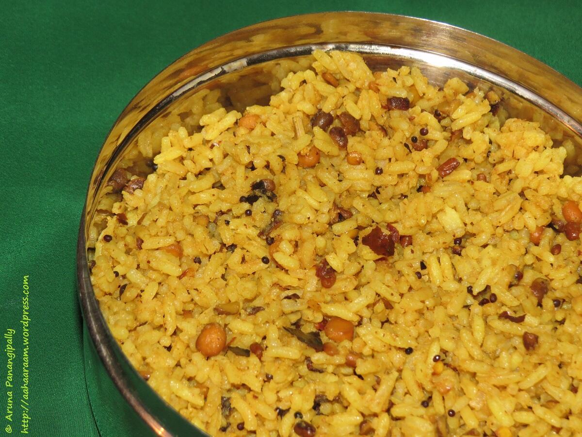 Kovil Pulihora | Koyil Puliyodarai is  Tamarind Rice as made in a temple.