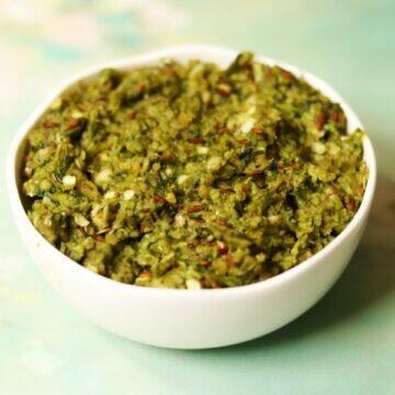 A Bowl of Hirvi Mirchi Cha Thecha | Mirchi Kharda: The Maharashtrian Green Chilli Chutney