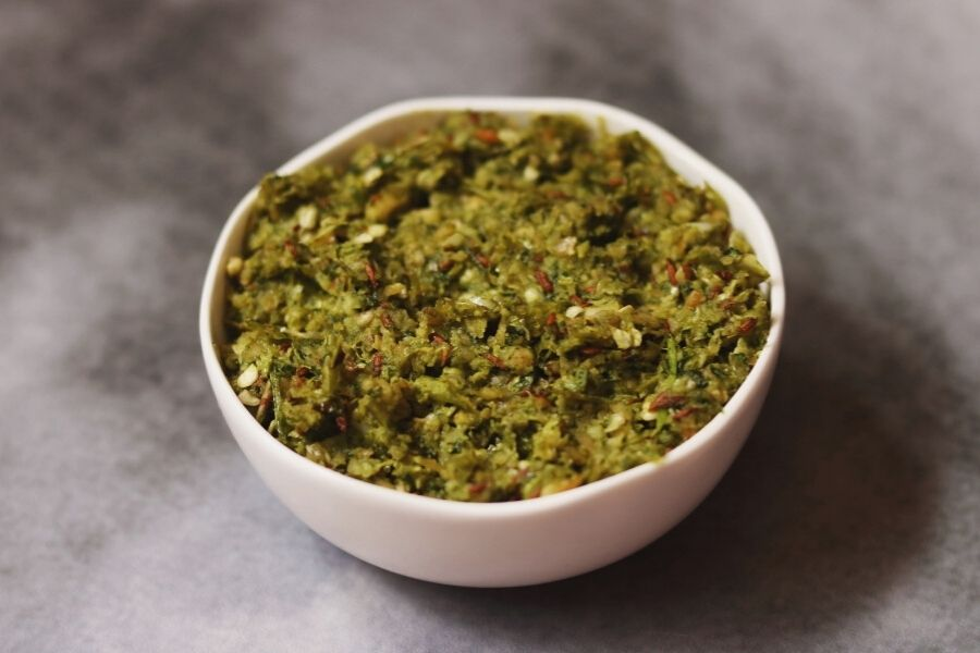 A Bowl of Mirchi Thecha: The Spicy, Garlicy, Nutty Maharashtrian Green Chilly Chutney