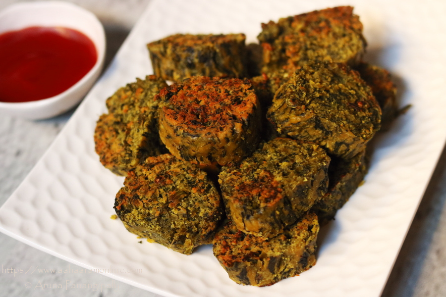Kothimbir Vadi | Coriander and Gram Flour Fritters