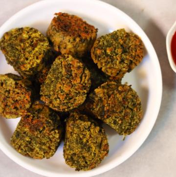 Kothimbir Vadi | Pan-Fried Coriander and Gram Flour Fritters