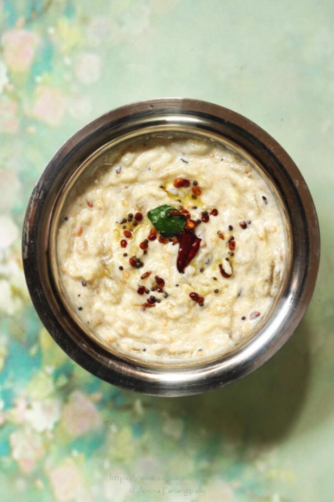 Kathirikai Thayir Pachadi | Baingan ka Raita | Roasted Eggplant in Yogurt