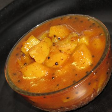 Methamba - A Raw Mango and Fenugreek Relish from Maharashtra