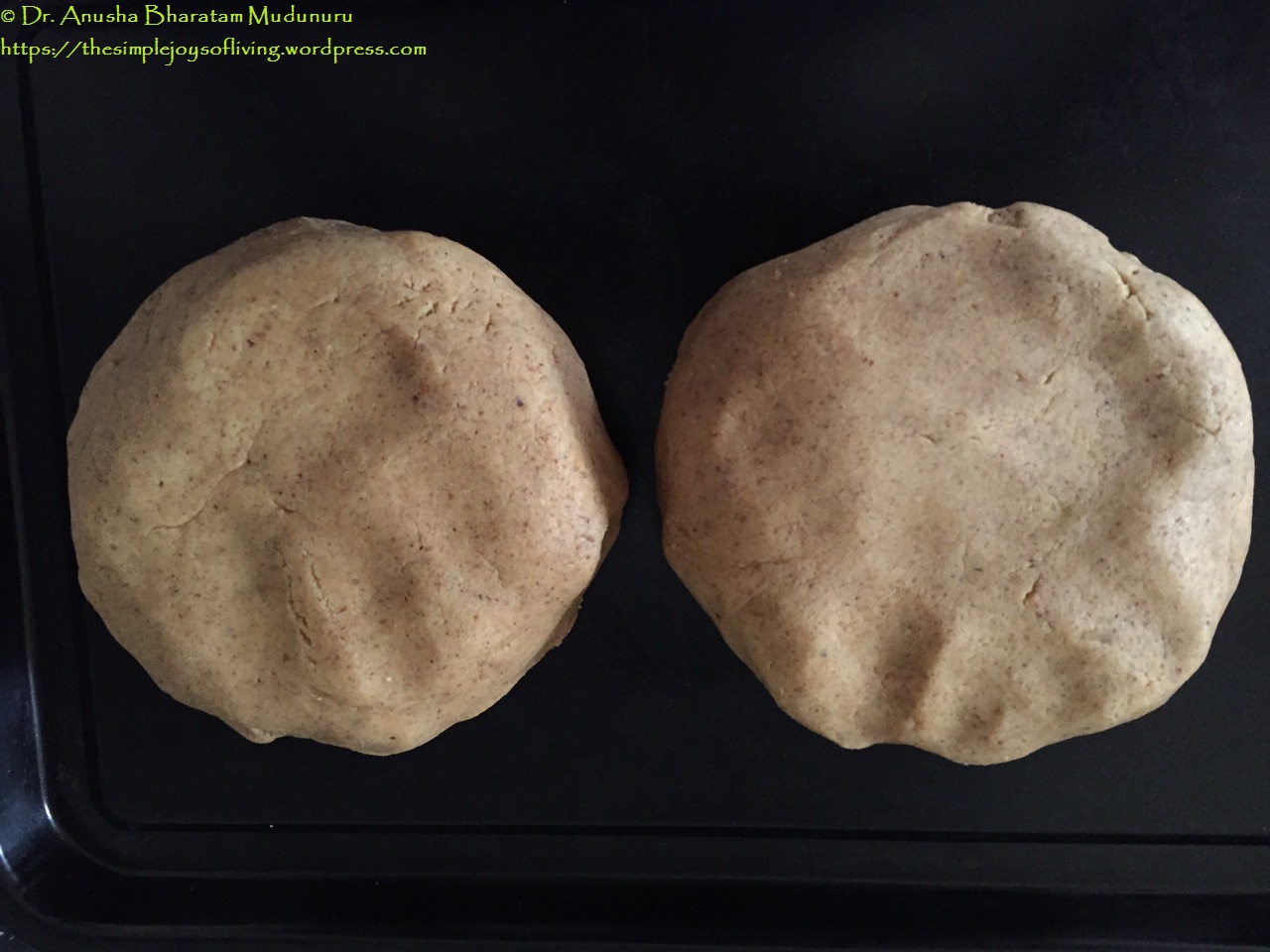 Lintzer Cookies - The Dough Divided into 2 Halves