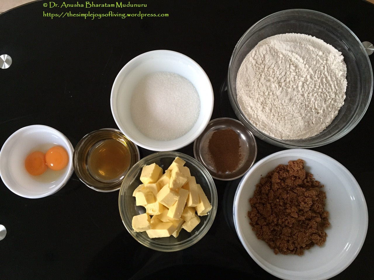 Lintzer Cookies - The Ingredients