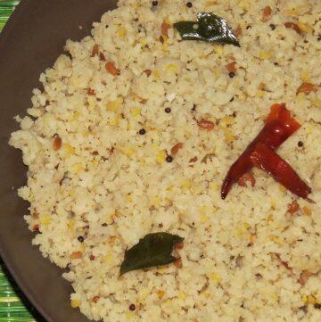 Arisi Upma - Rice Rava Upma from Tamil Nadu