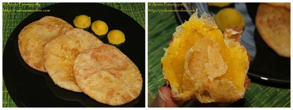 Sojjappalu - Andhra Style Halwa Stuffed Puri