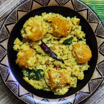 Gummadikaya Kura | Red Pumpkin in a Coconut-Sesame Paste