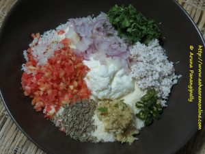 Ingredients for Rava Rotti