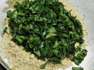 Add Chopped Washed Methi Leaves