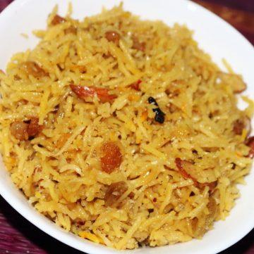 Narali Bhat   Sweet Coconut Rice from Maharashtra