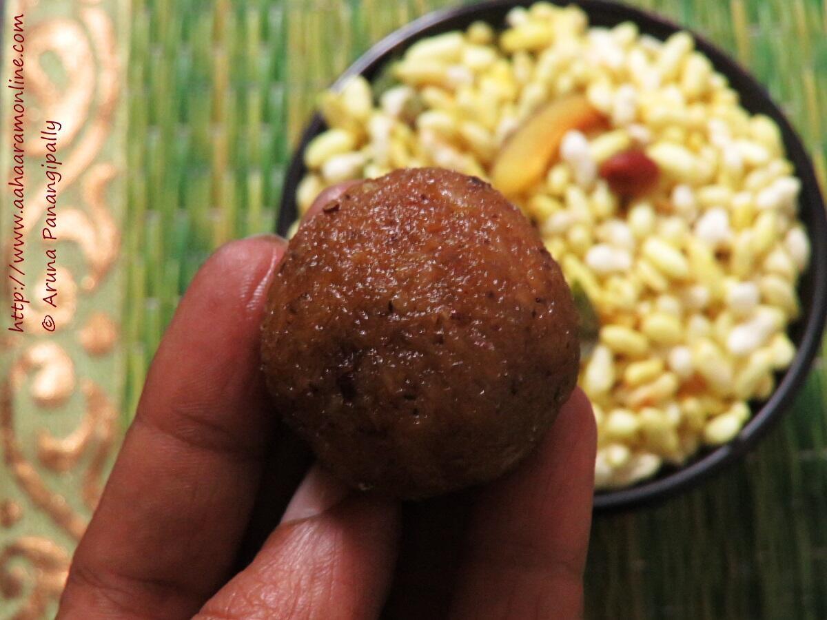 Andhra Kobbari Louz   Coconut Jaggery Laddu