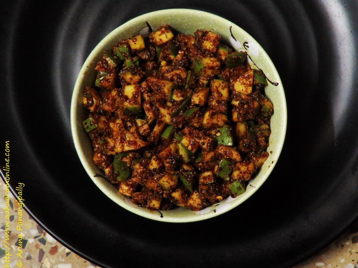 Mamidikaya Menthi Baddalu | Menthi Mukkalu | Instant Mango Pickle from Andhra