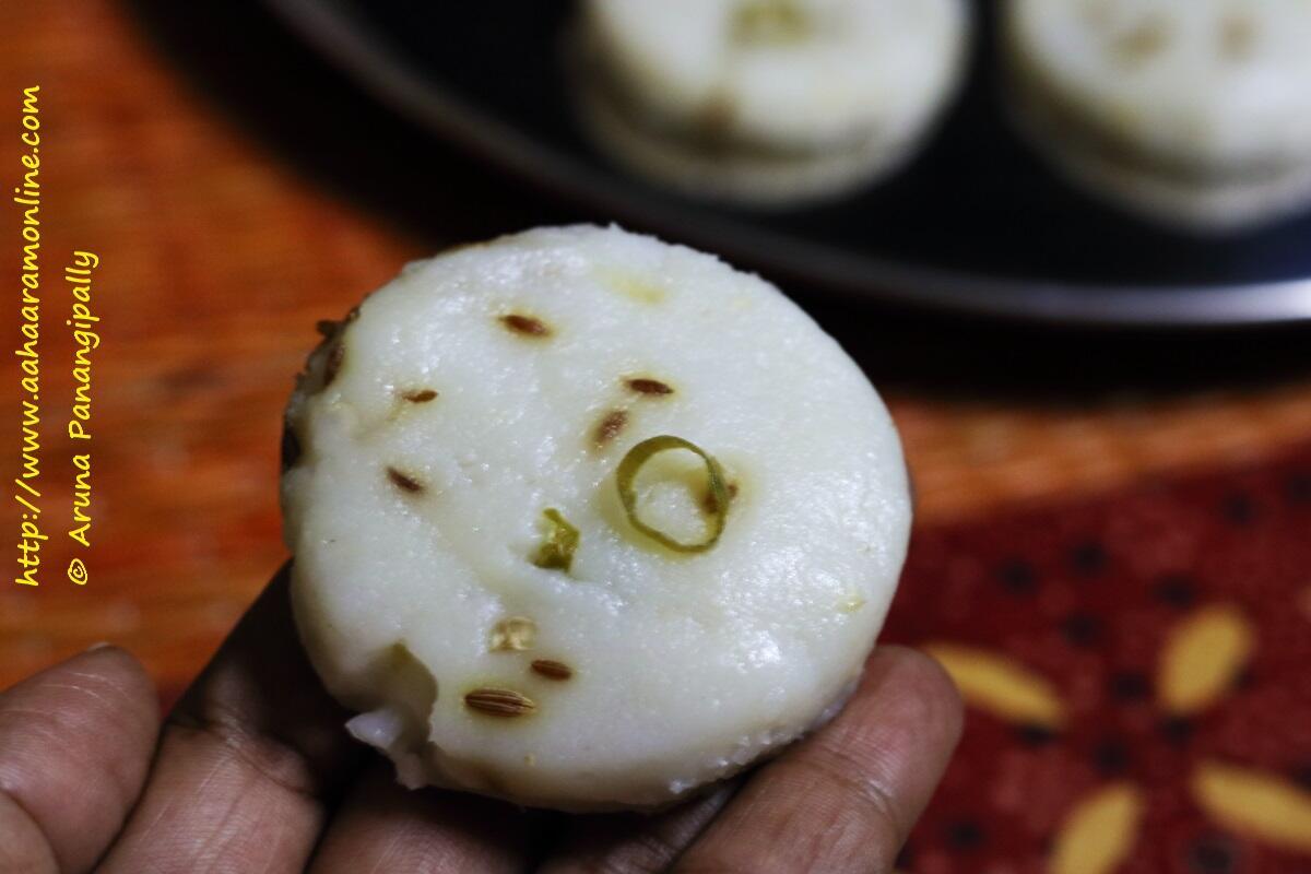 Nivagrya is a steamed rice flour disc