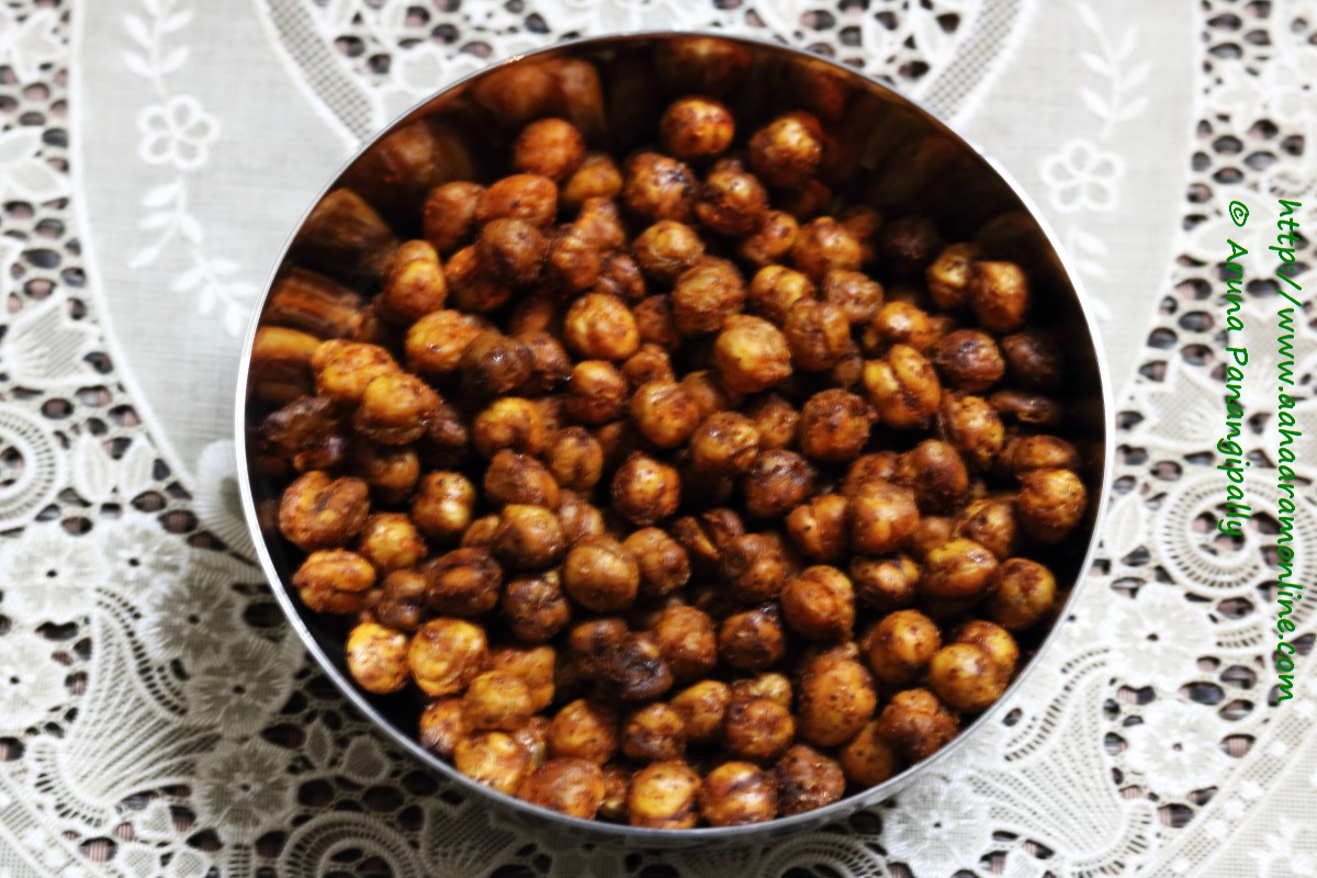 Spicy, Crunchy, Baked Chickpeas
