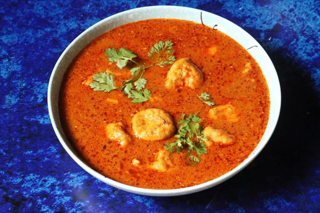 Khandeshi Dubuk Vade: Gram flour dumplings cooked in a spiced broth