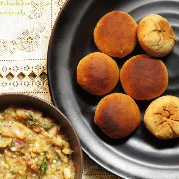Bihari Litti Chokha   Baked, Stuffed Wheat Flour Balls Stuffed with a Spiced Mash of Potato, Aubergine, and Tomato