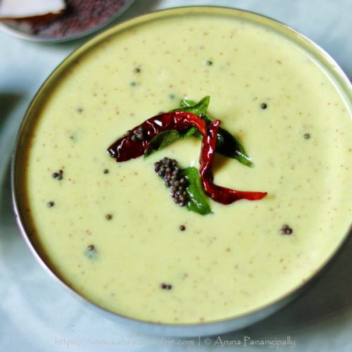 Mavinakayi Tambli | A raw mango, coconut, and mustard flavour gravy from Karnataka