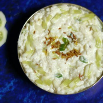 Gopalkala: Poha with Curd, Cucumber, and Grated Coconut