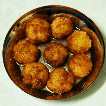 Dudhauri: Fried Milk and Rice Balls Soaked in Sugar Syrup