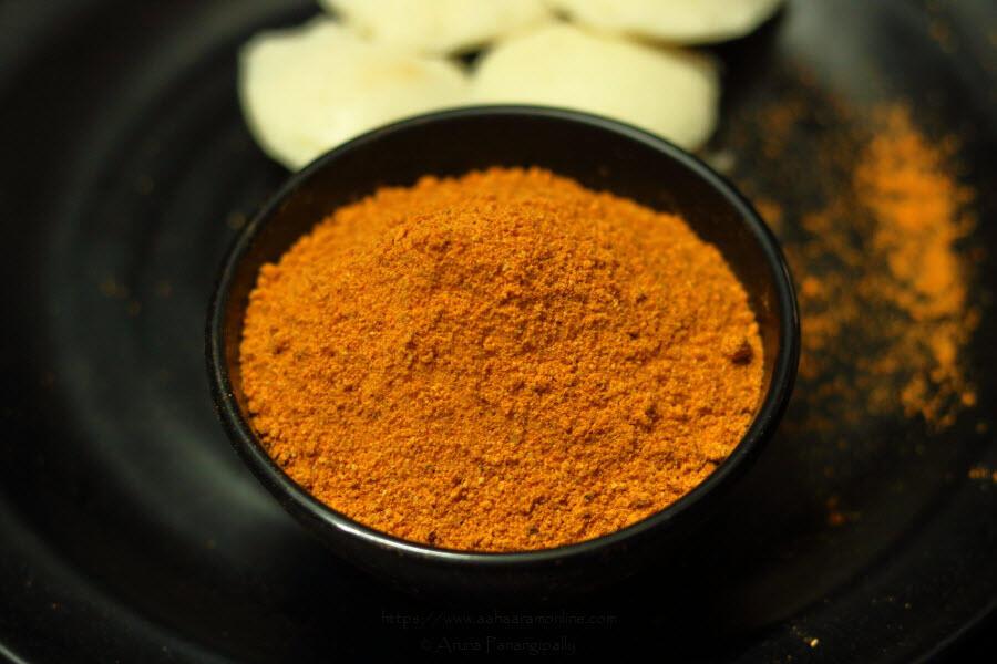 Spicy Milagai Podi with Tuvar Dal & Tamarind by Anupama Michael
