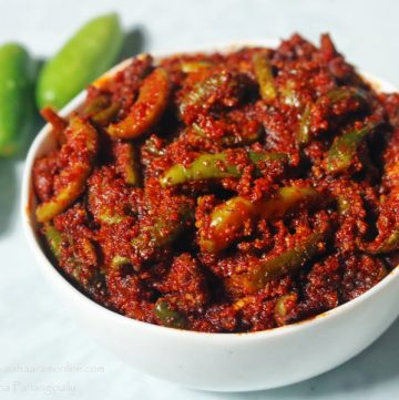 Dondakaya Avakaya is pickled ivy gourd (gherkin) from Andhra Pradesh