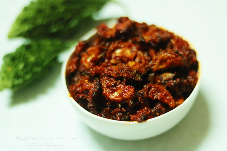 Andhra Bitter Gourd Pickle | Kakarakaya Avakaya | Karela Achar