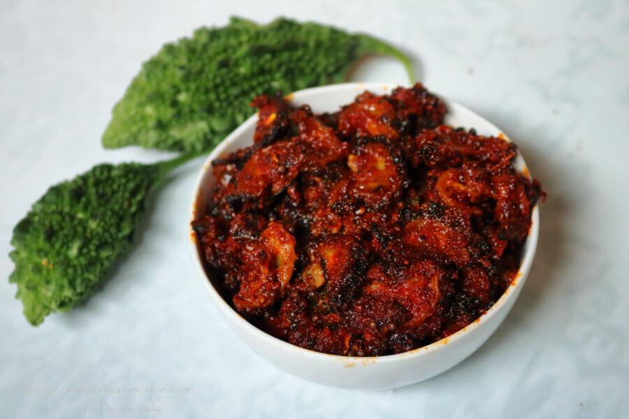 Kakarakaya Nilava Pachadi | Bitter Gourd Pickle
