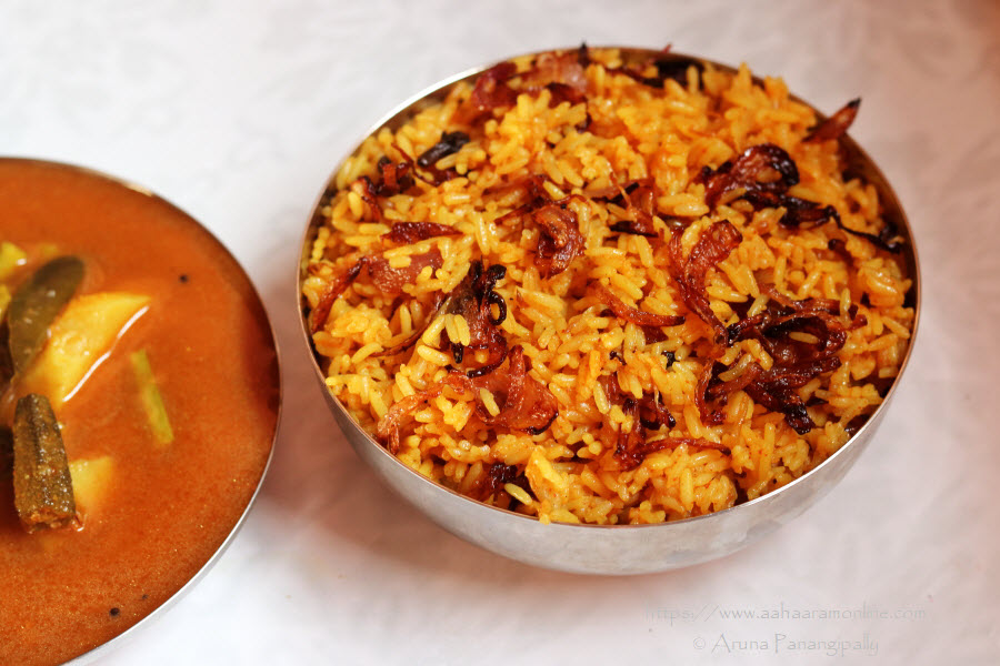 Sindhi Bhuga Chawal   Rice with Caramalised Onions