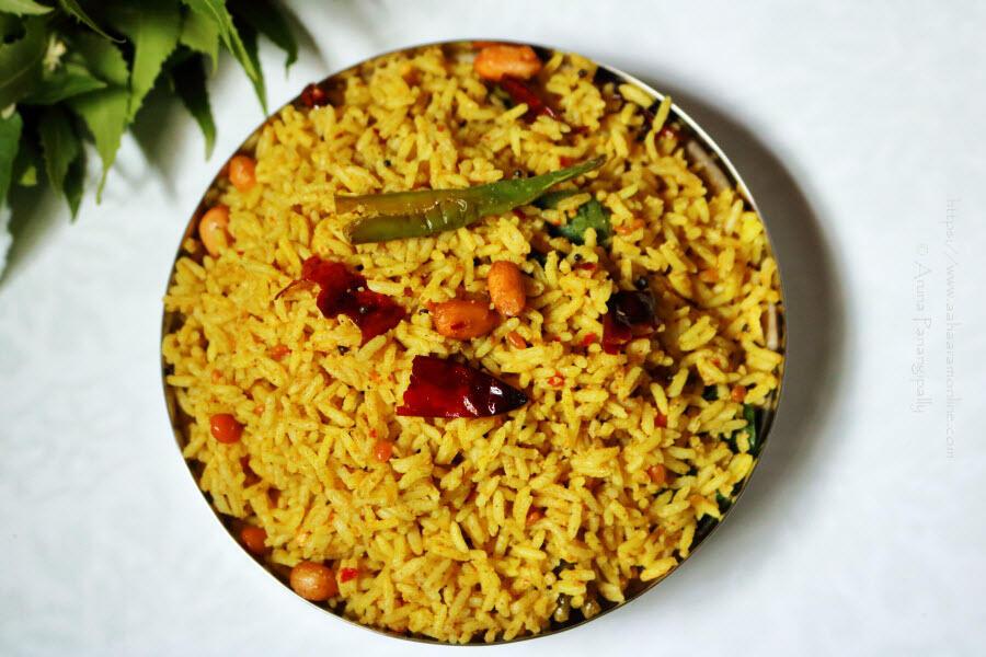 Nuvvula Chintapandu Pulihora   Tamarind Rice with Roasted Sesame Powder