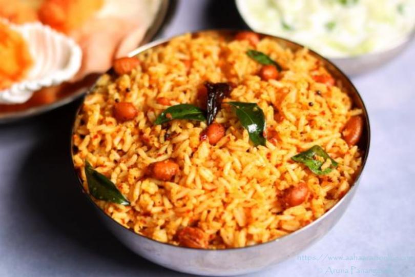 Coconut and Mustard Rice | Kayi Sasive Chitranna | Ava Pettina Kobbari Annam