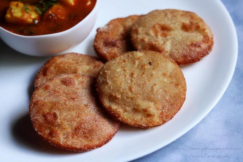 Rajgira Puri   Vrat ki Poori   Rajgira Aloo Puri