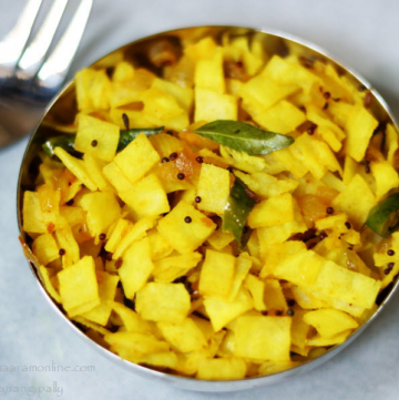 Rice Roti Upma (or Poha) is a gluten-free, low potassium recipe for Renal Diet