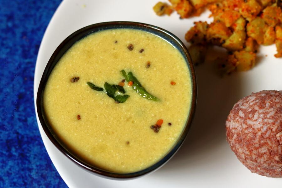 Mamidikaya Majjiga Pulusu | Mangai Mor Kuzhambu: A Raw Mango and Buttermilk Stew from Andhra Pradesh