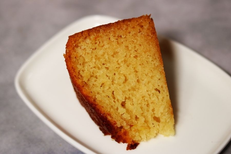 A Slice of Gulab Jamun Mix Cake