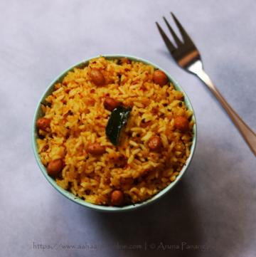 Peanut Rice | Verkadalai_Sadam | Verusenaga Annam