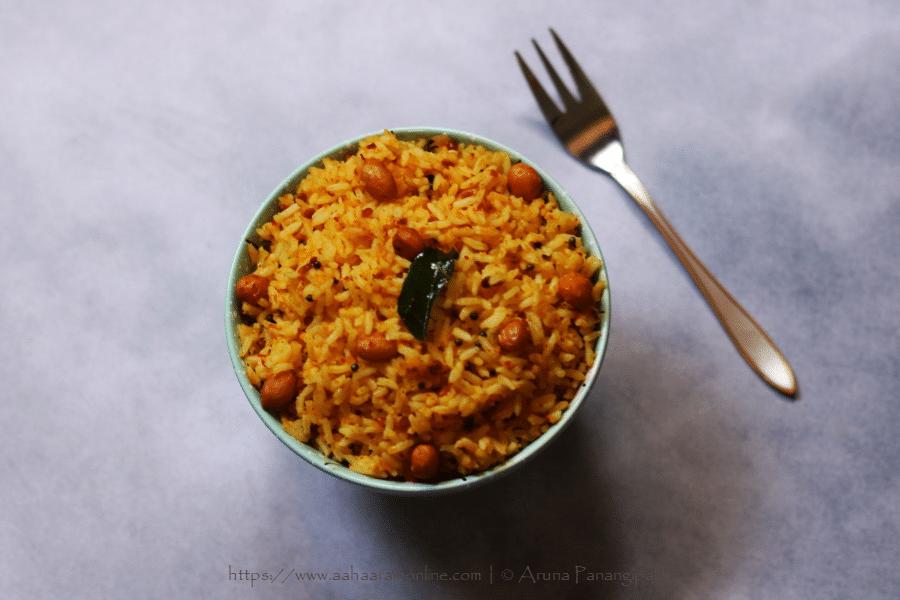 Peanut Rice | Verkadalai Sadam | Verusenaga Annam