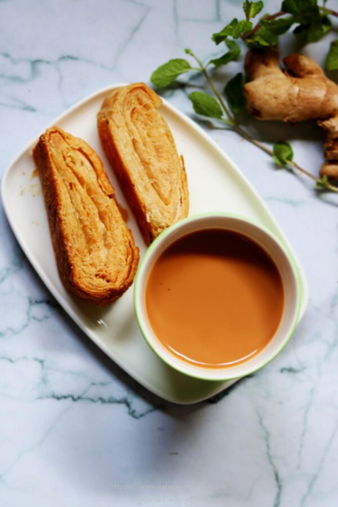 Pudina Adrak Chai   Ginger Mint Tea with Milk
