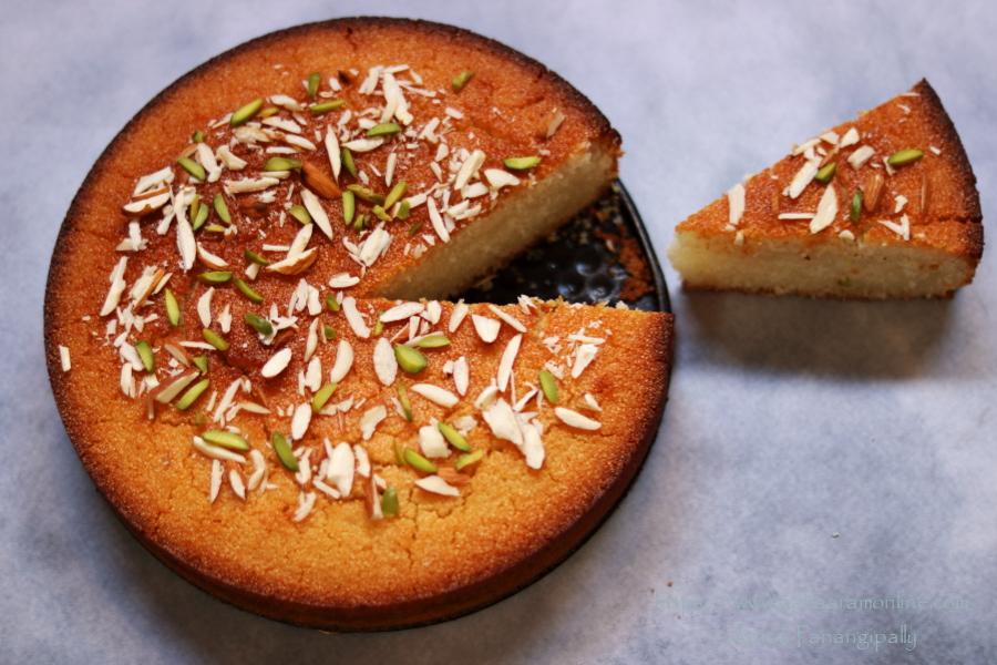 Basbousa | Eggless Rava Cake