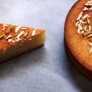 Basbousa | Eggless Semolina Cake | Rava Cake Soaked in Lemony Sugar Syrup