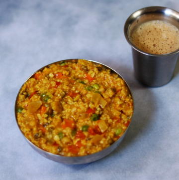 Masala Oats | Savoury Indian Style Oats with Vegetables