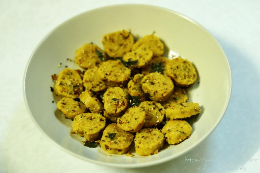 Steamed Cabbage Muthiya   Bafela Kobi Na Muthia