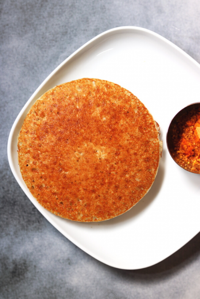 Bin Dosa: A thick pancake made in a Kadhai or Wok. This is a low potassium, renal diet recipe as well.